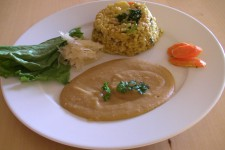 Zeleninové rizoto s tahini