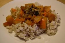 Rýžová kaše s dušenou dýní