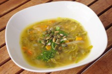 Kapustovo dýňová polévka s amarantem