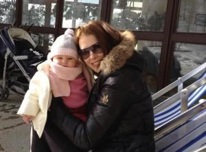 Marie se svou malou Aničkou už bez ekzému
