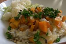 Snídaně od A do Z – miso polévka a obilná kaše se zeleninou