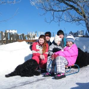Andrea s rodinou