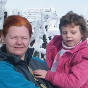 Andrea s postiženou Toničkou