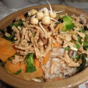 zelenina s natto miso