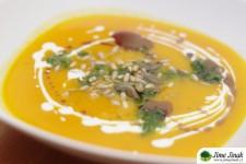 Dýňovo – cizrnová polévka