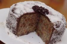 Zasněžený dort (napařovaný, bezlepkový)