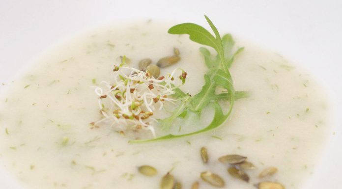 Koprová polévka z bílé ředkve (daikon) a celeru 363d92047e