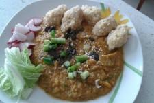 Můj první kompletní talíř :-)