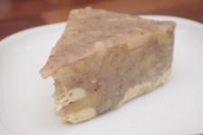 Nepečený jablečno-pudingový dort