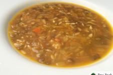 Čočková polévka se slunečnicovými semínky