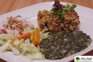 inspirace jarni nadivka z jahel a krup spenat z plane zeleniny naparena zelenina salat