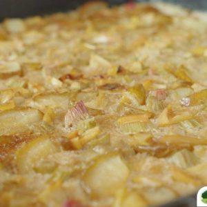 rebarboro hruskovy kolac z kukuricne krupice plech