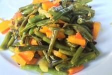 Zelené fazolky s dýní