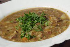 Polévka z čerstvých hřibů a čerstvých bylinek