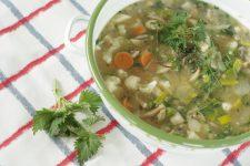 Jarní kvásková polévka s kopřivou