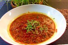 Čočková polévka s batáty a řepou