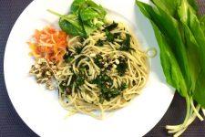 Špagety s medvědím česnekem