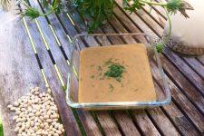 Krémová polévka z fazolí a batátu