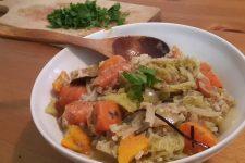 Hustá zeleninová polévka s obilovinou